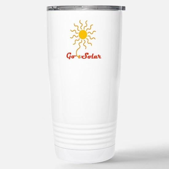 Go Solar Stainless Steel Travel Mug