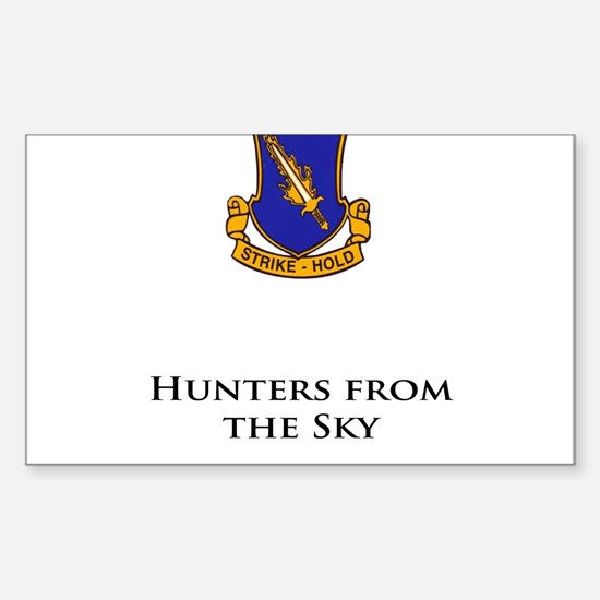 504- Hunters from the Sky Sticker (Rectangle)