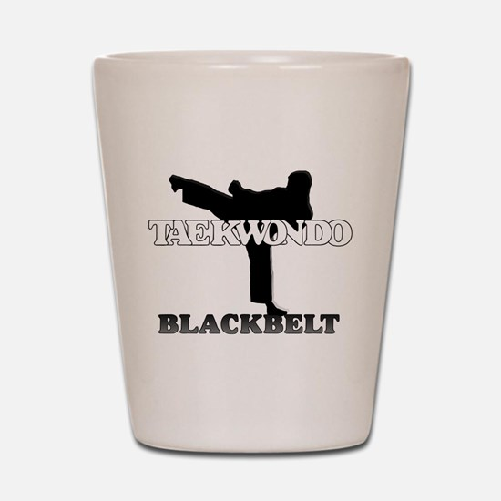 TaeKwonDo Black Belt Shot Glass