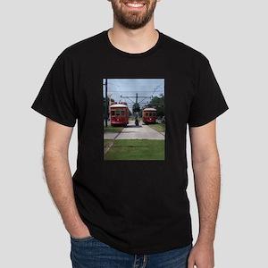 Red Streetcar Dark T-Shirt