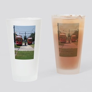 Red Streetcar Drinking Glass