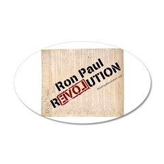 Ron Paul Constitution 22x14 Oval Wall Peel