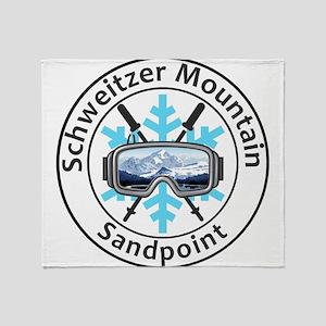Schweitzer Mountain - Sandpoint - Throw Blanket