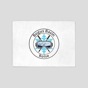 Bogus Basin - Boise - Idaho 5'x7'Area Rug