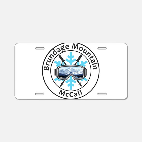 Brundage Mountain - McCal Aluminum License Plate