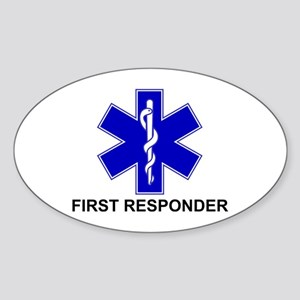 BSL - FIRST RESPONDER Sticker (Oval)