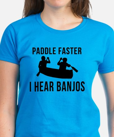 Paddle Faster I Hear Banjos Women's Dark T-Shirt
