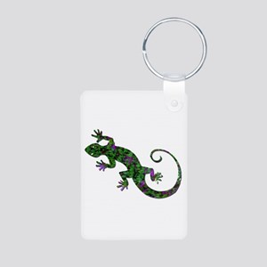 Ivy Green Gecko Aluminum Photo Keychain