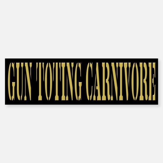 Gun Toting Carnivore Sticker (Bumper)