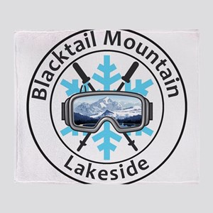 Blacktail Mountain - Lakeside - Mo Throw Blanket