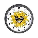 Smiley Face Sun Wall Clock