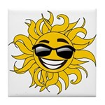 Smiley Face Sun Tile Coaster