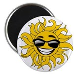 Smiley Face Sun Magnet