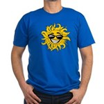 Smiley Face Sun Men's Fitted T-Shirt (dark)