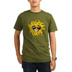 Smiley Face Sun Organic Men's T-Shirt (dark)