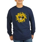 Smiley Face Sun Long Sleeve Dark T-Shirt