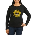 Smiley Face Sun Women's Long Sleeve Dark T-Shirt