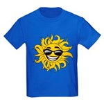 Smiley Face Sun Kids Dark T-Shirt