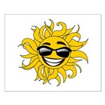 Smiley Face Sun Small Poster