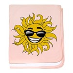 Smiley Face Sun baby blanket