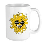 Smiley Face Sun Large Mug