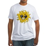 Smiley Face Sun Fitted T-Shirt