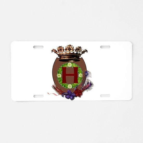 H Crest Aluminum License Plate