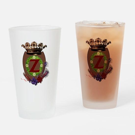 Z Crest Drinking Glass