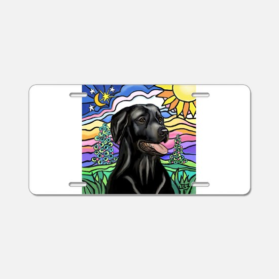 Country (L1) - Black Lab Aluminum License Plate