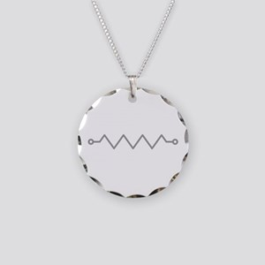 Resistor Necklace Circle Charm