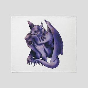 Gargoyle Tattoo Throw Blanket