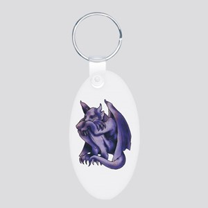 Gargoyle Tattoo Aluminum Oval Keychain