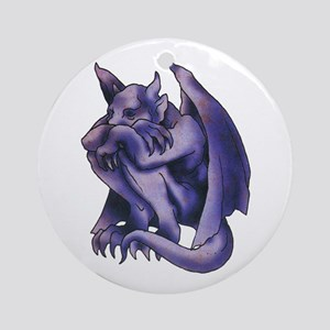 Gargoyle Tattoo Ornament (Round)