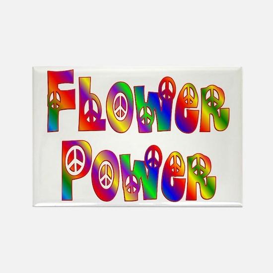 FLOWER POWER Rectangle Magnet
