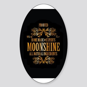 Moonshine label Sticker (Oval)