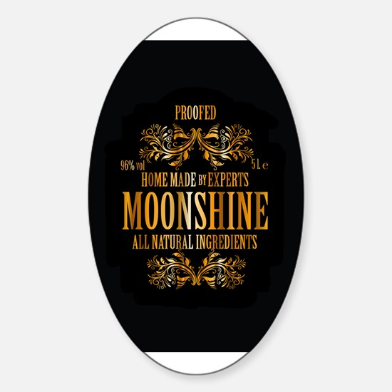 Moonshine label Sticker (Oval)
