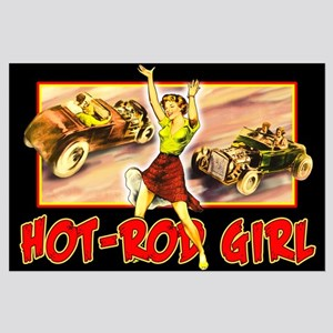 Hot Rod Girl Large Poster