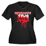 Internet Thug 2.0 Women's Plus Size V-Neck Dark T-