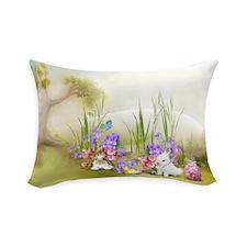 Easter Bunnies Rectangular Throw Pillow