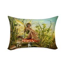 Indian Summer Fairy Rectangular Throw Pillow