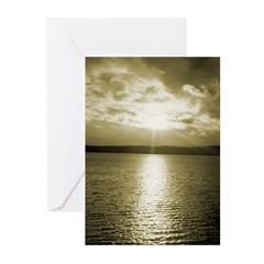 Sunset over Puget Sound - Greeting Cards (Package