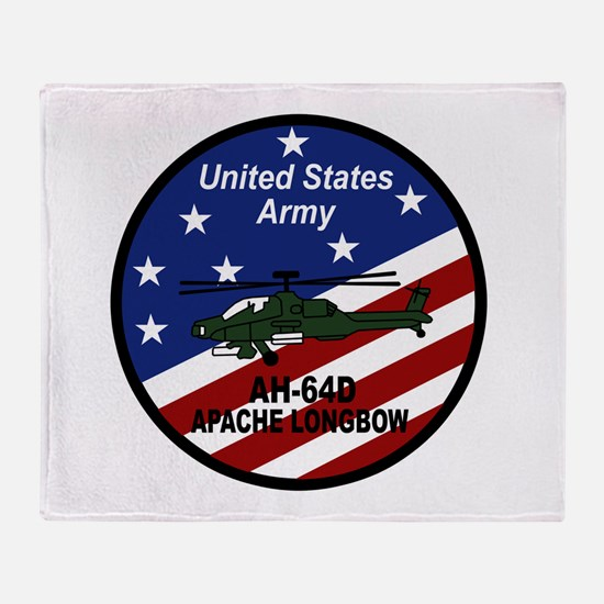 Cute Apache helicopter Throw Blanket