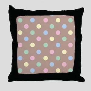 Pastel Polkadot Throw Pillow