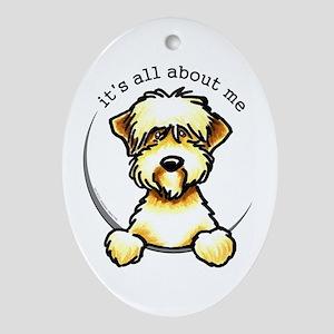 Funny Wheaten Terrier Ornament (Oval)