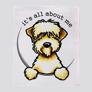 Funny Wheaten Terrier Throw Blanket