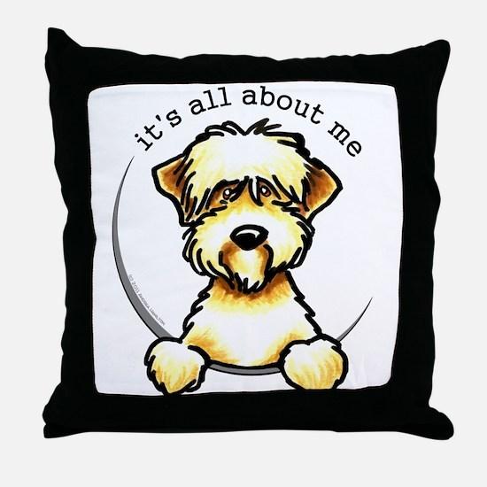 Funny Wheaten Terrier Throw Pillow