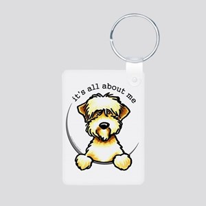 Funny Wheaten Terrier Aluminum Photo Keychain