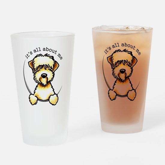 Funny Wheaten Terrier Drinking Glass
