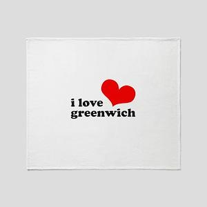 i love greenwich Throw Blanket