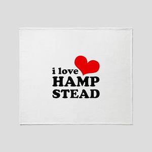 i love hampstead Throw Blanket